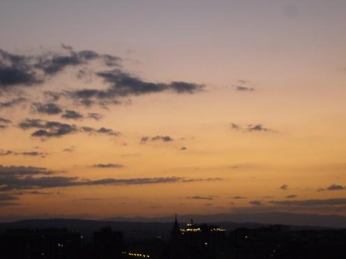 日落后的一片平静!